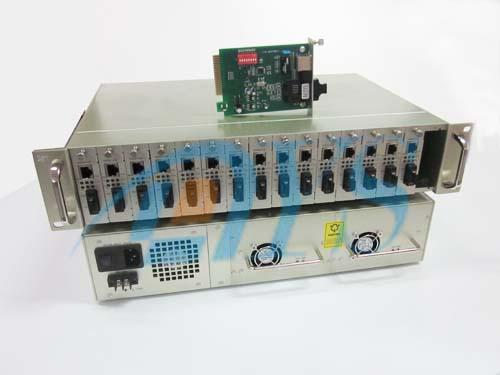 Singlemode Optical Fiber Media Converter IEEE802.3u With 16 Slot