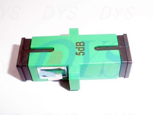 Duplex SC 1 - 20dB Fiber Optic Attenuator Green For EDFA