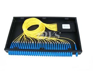 1 x 32 PLC Optical Fiber Splitter SC / UPC Connector , Network Redundancy