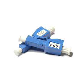 18dB Singlemode Male to Female LC / UPC Fiber Optic Attenuator , 3 / 20dB Optical Attenuator