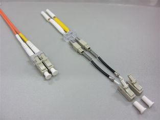 125 OM3 Multimode Mini LC High Panel Densities Optical Fiber Connectors Assemblies