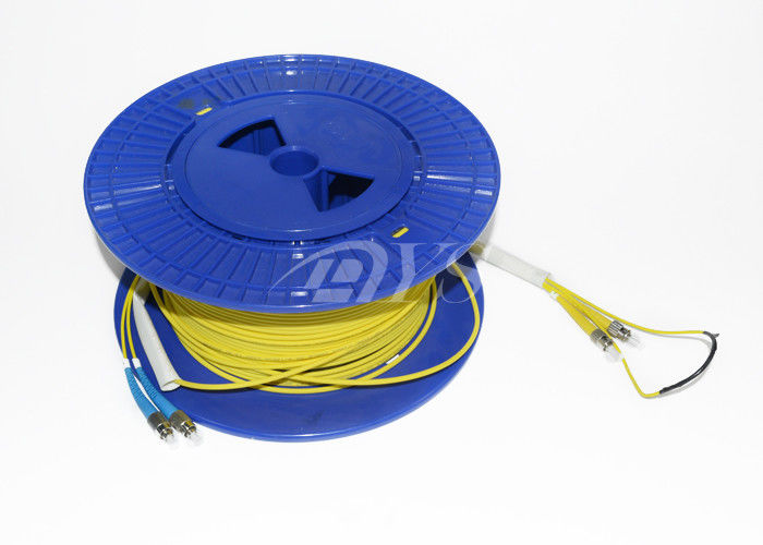 Yellow 50 Meter Duplex Single Mode Fiber Patch Cord with pulling eye nhà cung cấp