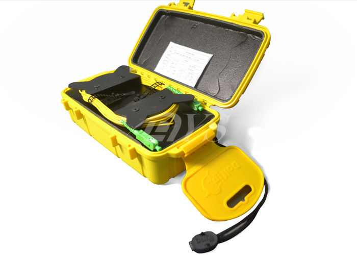 Black / Yellow OTDR Launch cable Fiber Optic Terminal box For CATV nhà cung cấp