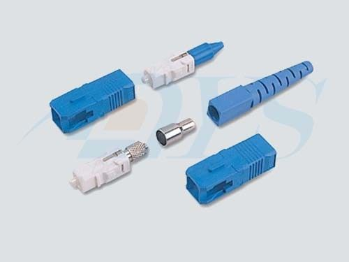 Blue SC / UPC Optical Fiber Connectors PC / UPC / APC Polishing With 9 / 125um Fiber nhà cung cấp