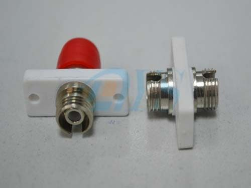 Red Flange ST Optical Fiber Adapter For CAT High Back Reflection Loss Value nhà cung cấp
